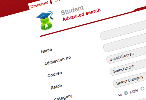 Advanced search fedena